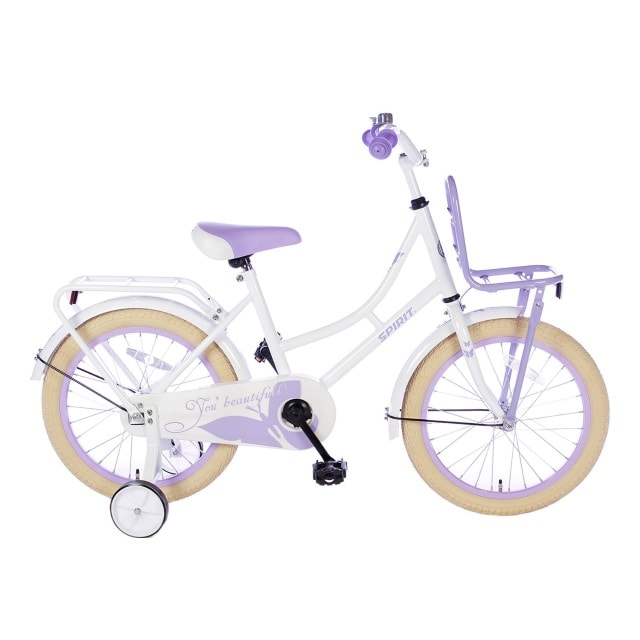 Spirit Omafiets 18 inch Wit Paars