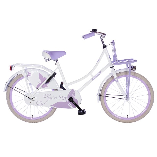 Spirit Omafiets 20 inch Wit Paars