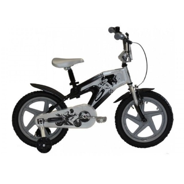 Troy Kids Racer 16 inch Black Silver