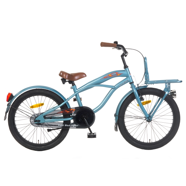 Popal Jongensfiets Black Fighter 20 inch Blauw